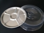 12inch 16inch round aluminum serving tray with lid